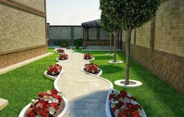 Ландшафтный дизайн двора