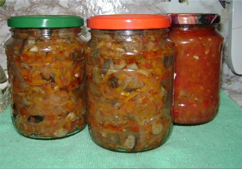 Салат из капусты с грибами на зиму