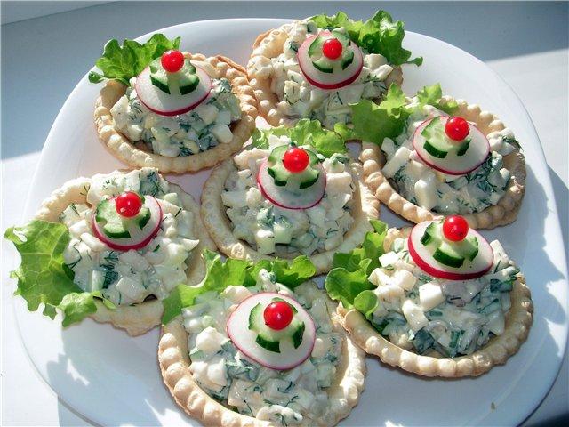 Начинка для тарталетки на праздничный стол рецепты простые