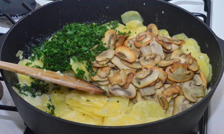 Что приготовить с грибами и сливками