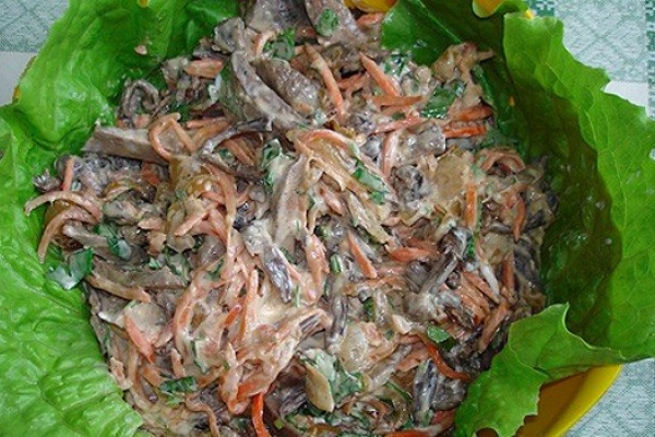 Салат из печени фото и рецепт