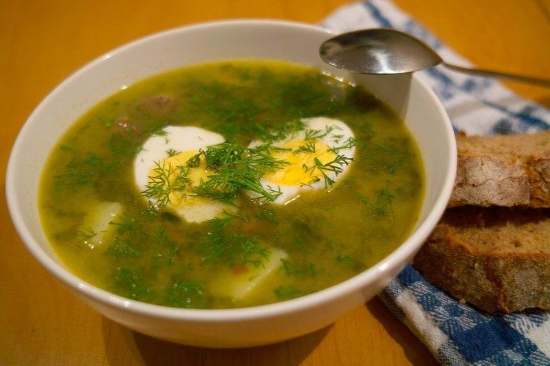 Супы с щавелем рецепт