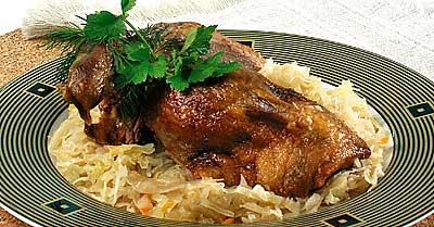 Рецепт утка с капустой